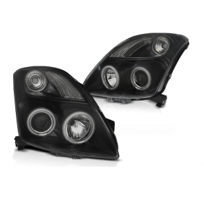 CCFL Angel Eyes koplampenset Suzuki Swift BJ 05 / 05-10 helder zwart