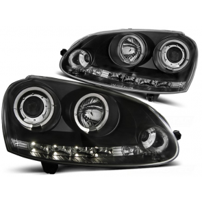 Angel Eyes koplampenset VW Golf V BJ 10 / 03-09 helder zwart