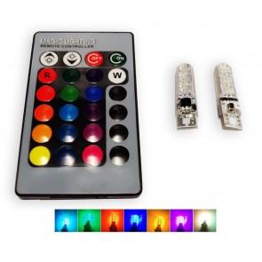 T10 led set met afstandsbediening 12-kleuren