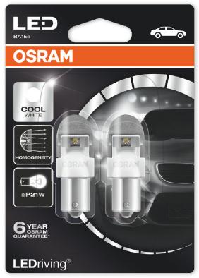 Osram LEDriving PREMIUM Wit BA15S/P21W set