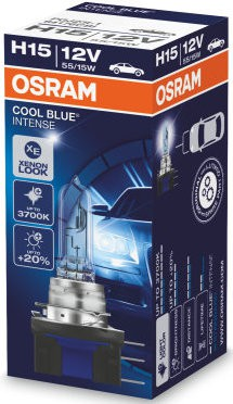 Osram Cool Blue Intense h15 12V 55W/15W halogeenlamp (64176CBI)