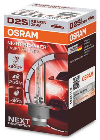 Osram Xenarc Night Breaker Laser D2S Xenon Lamp (66240XNL)