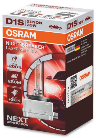 osram xenarc night breaker laser d1s xenon lamp 66140xnl. Black Bedroom Furniture Sets. Home Design Ideas